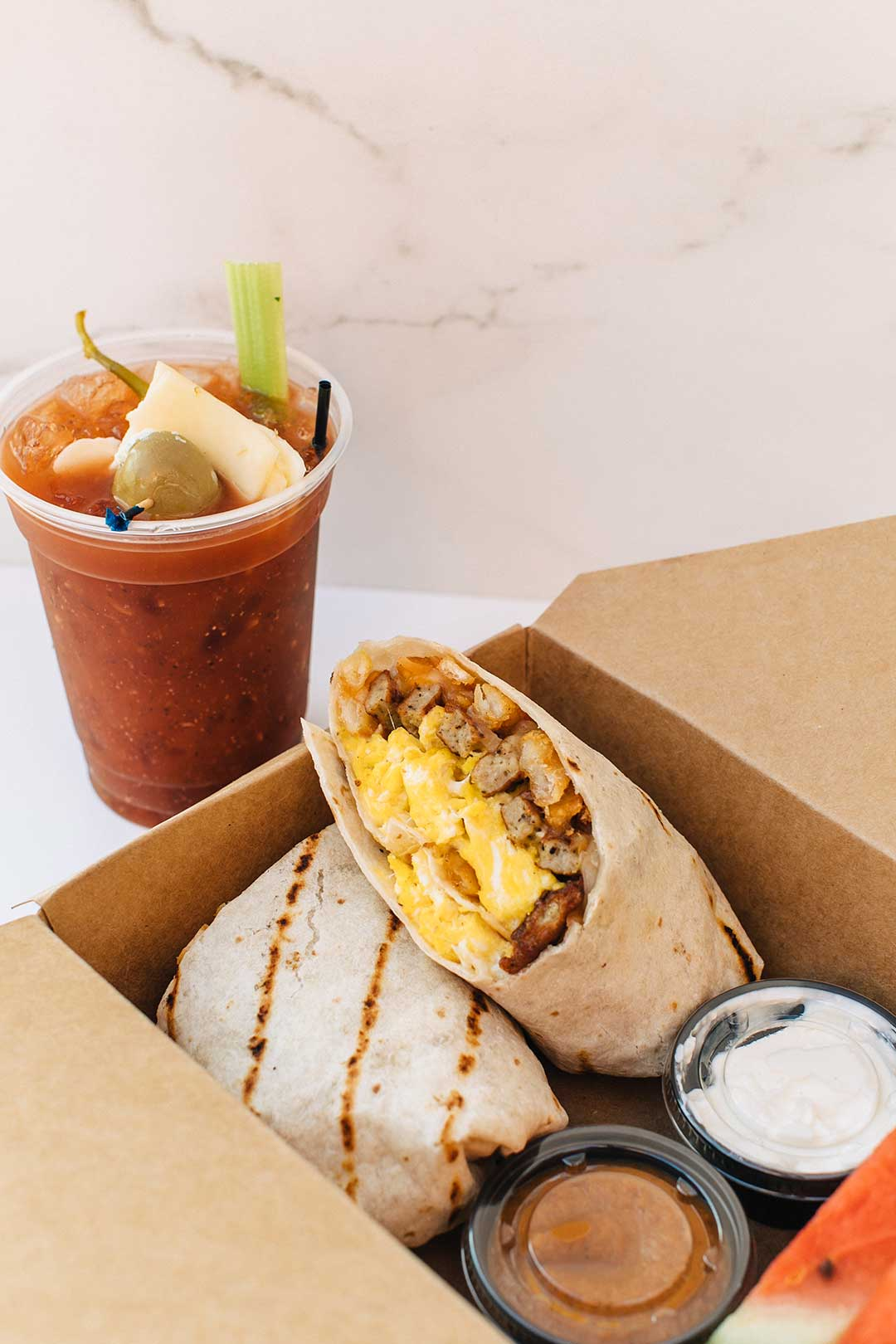 Start your day with a breakfast burrito