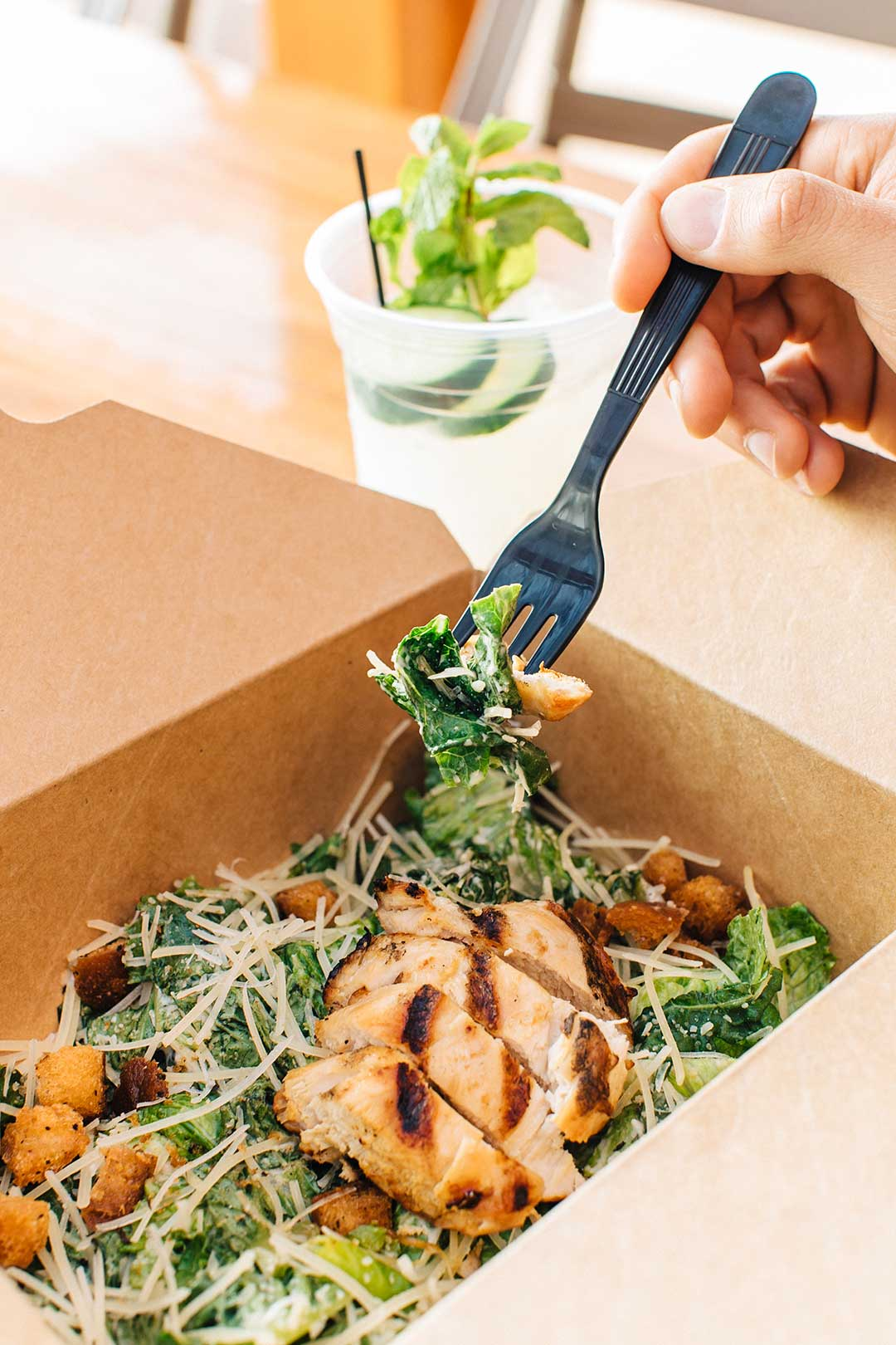Delivery and take out salad
